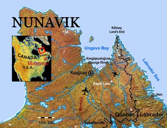 Map Nunavik_Rapid Lake_RE001